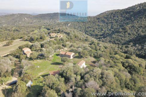 panorama of the property sardinia